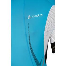 Odlo Jersey s/s SHIFT Men methyl blue/white/fluor red